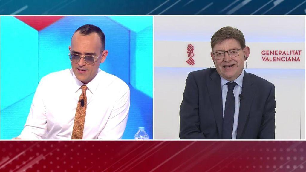 """Ximo Puig, presidente de la Generalitat Valenciana, la comunidad autónoma más vacunada: """"Aquí vamos bien por..."""""""