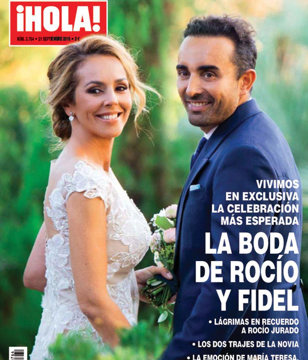 La boda de Rocío Carrasco y Fidel Albiac, en ¡Hola!