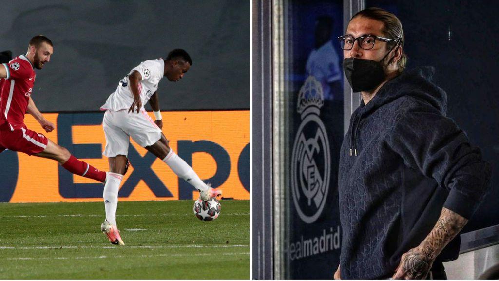 """Los consejos de Sergio Ramos a Vinicius desde la grada en la jugada del primer gol: """"Venga Vini, para dentro, termina"""""""