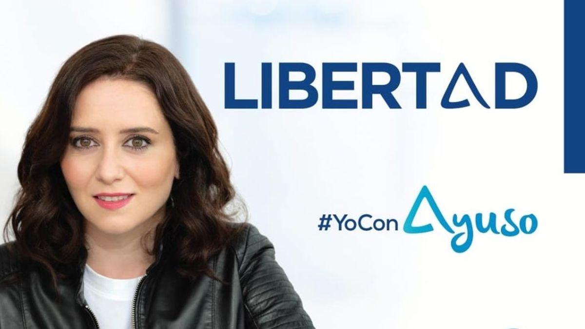 Cartel electoral Isabel Díaz Ayuso