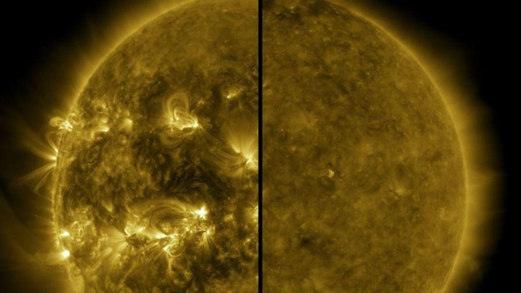 EuropaPress_3320908_imagen_dividida_muestra_diferencia_sol_activo_maximo_solar_izquierda
