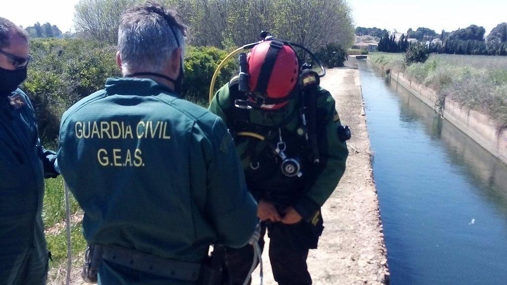 La Guardia Civil rescata en un canal el cuerpo sin vida de una joven desaparecida en Valencia