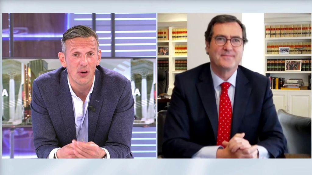 """Antonio Garamendi, presidente de la CEOE, sobre la recuperación: """"Los empresarios no queremos despedir"""""""