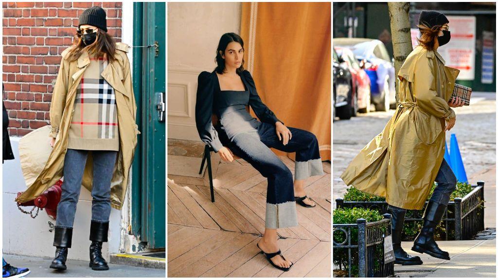 Irina Shayk y cómo llevar los pantalones vaqueros 'foolep up': así podrás combinar estos jeans que vuelven a estar de moda.