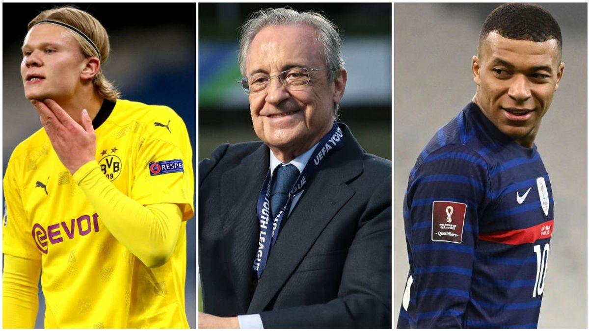 Florentino negociará primero con Mbappé y luego con Haaland.