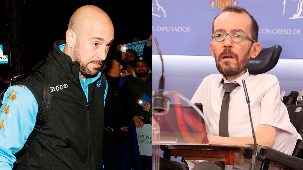 """Pepe Reina llama """"miserable"""" a Echenique por decir que la protesta contra Vox en Vallecas fue """"pacífica"""""""
