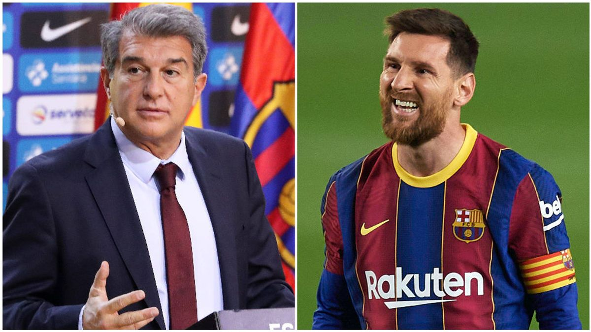 Laporta trabaja en la oferta de renovación de Messi.