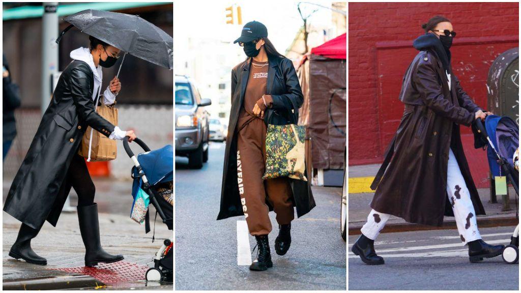 También, otro de los imprescindibles de la modelo es el abrigo estilo 'Matrix'.