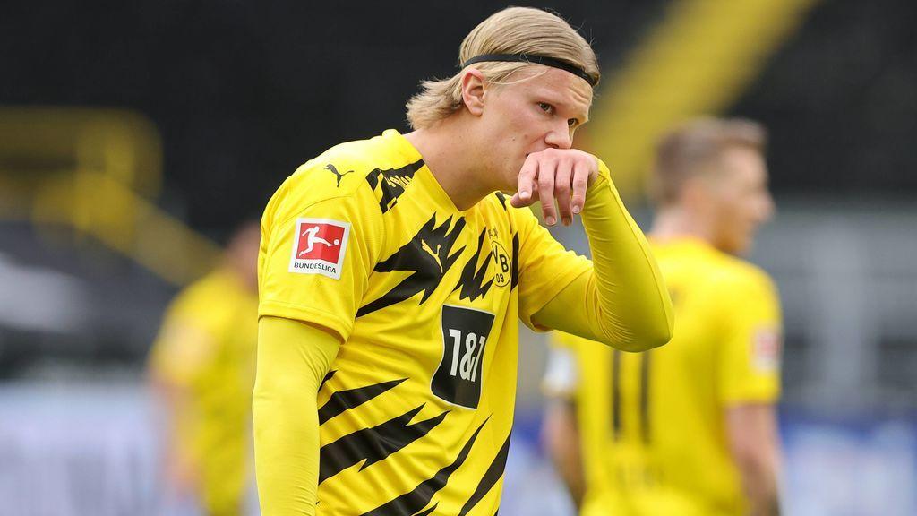 Haaland no marcó ante el City en la ida de cuartos de la Champions.