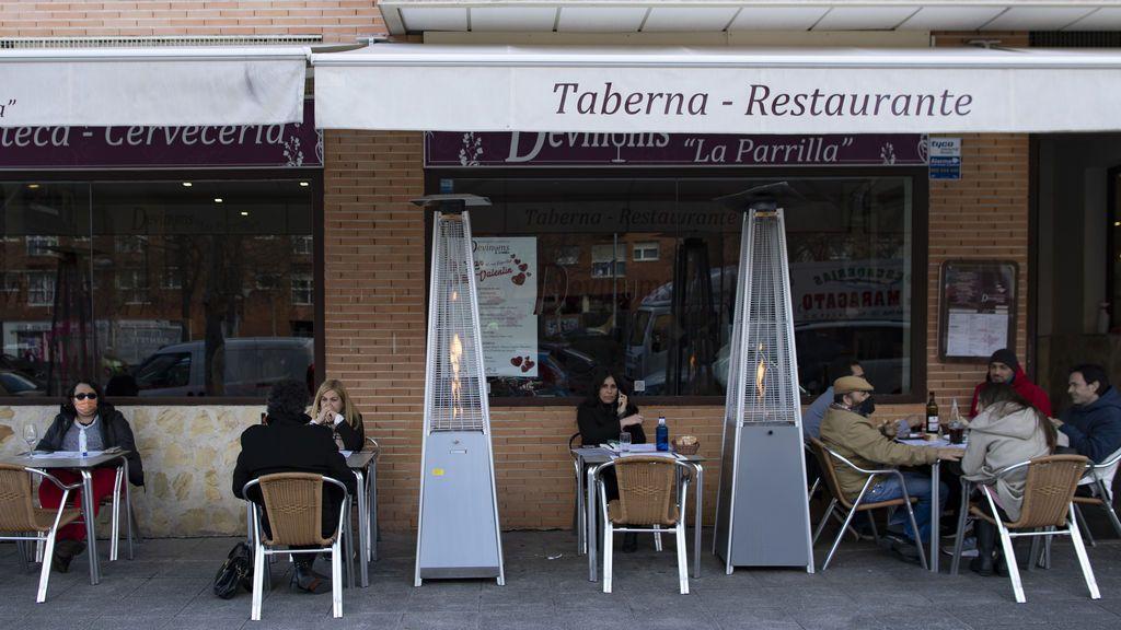 Hostelería abierta en Madrid en febrero de 2021