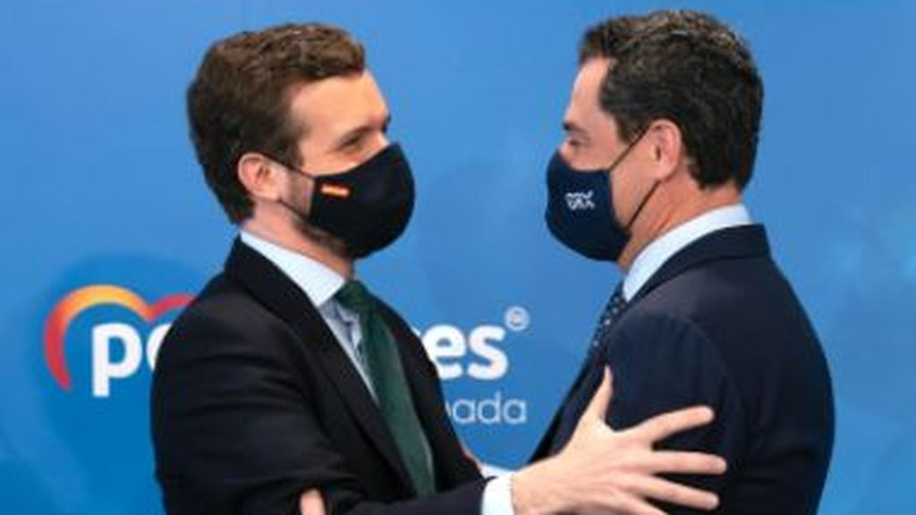 Casado y Moreno Bonilla firman la paz orgánica en el PP en el Congreso de Granada