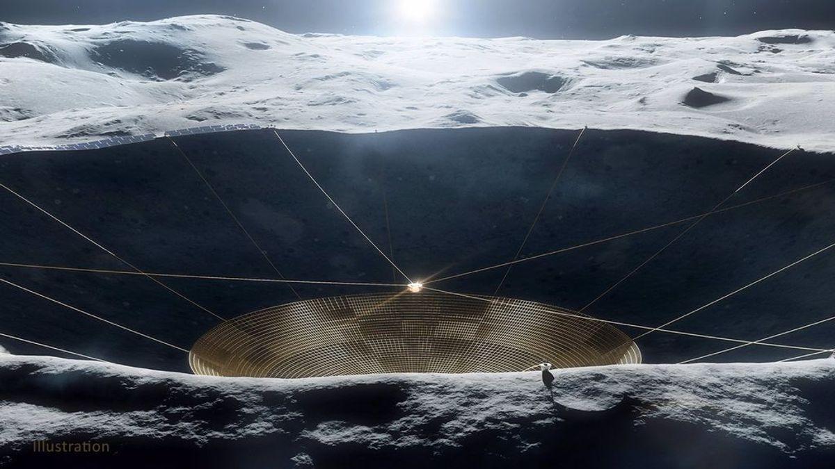 La NASA estudia la viabilidad de instalar un telescopio dentro de un cráter en la cara oculta de la Luna