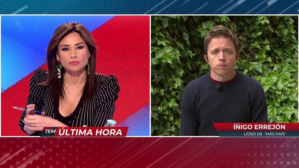 Errejón opina sobre la polémica decisión de Pablo Iglesias