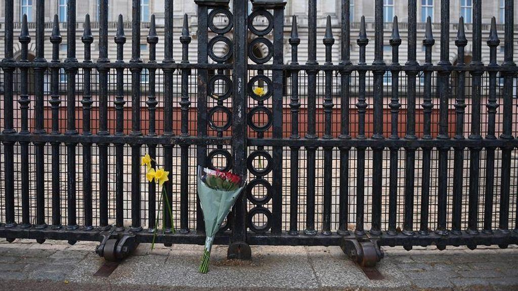 Flores frente al Palacio de Buckinham