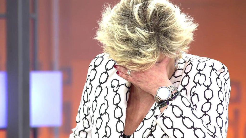 Terelu Campos rompe a llorar en directo