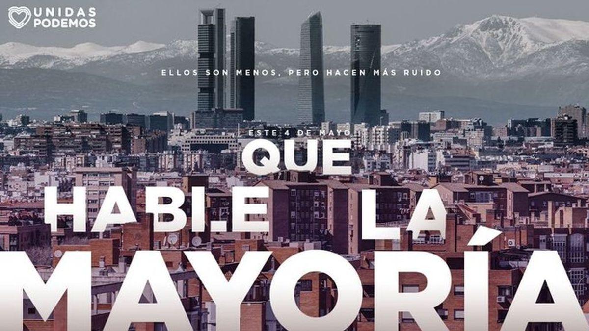 Elecciones Madrid 2021: 'Que hable la mayoría', lema de campaña de Iglesias para reivindicar que la izquierda movilizada vence al PP