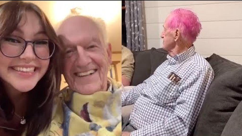Una joven le cambia el 'look' a su abuelo y se hace viral en las redes sociales