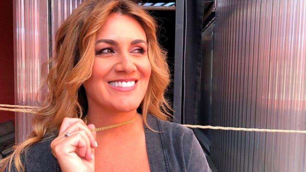 Carlota Corredera, en el backstage de Telecinco
