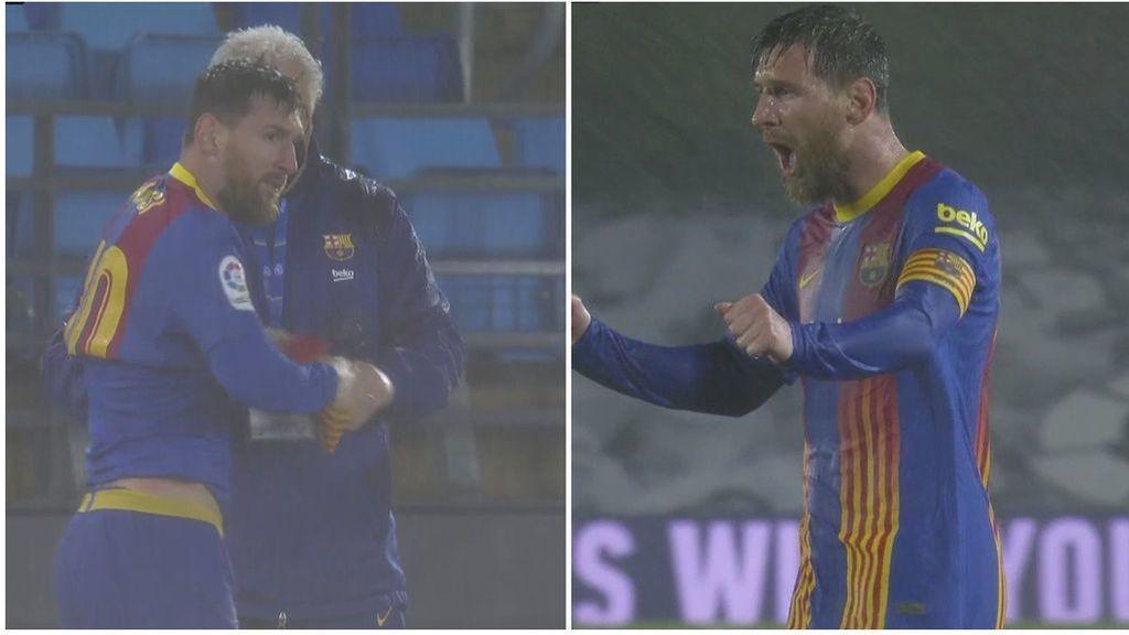 El sufrimiento de Messi en Valdebebas: tiritando, desaparecido y otro Clásico sin marcar