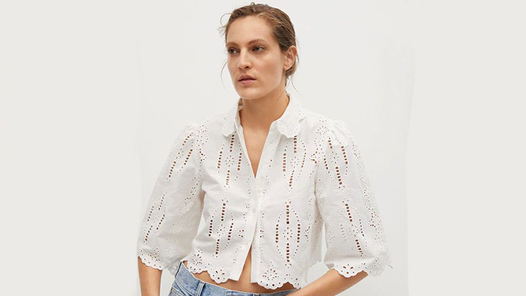 Camisa cropped de Mango