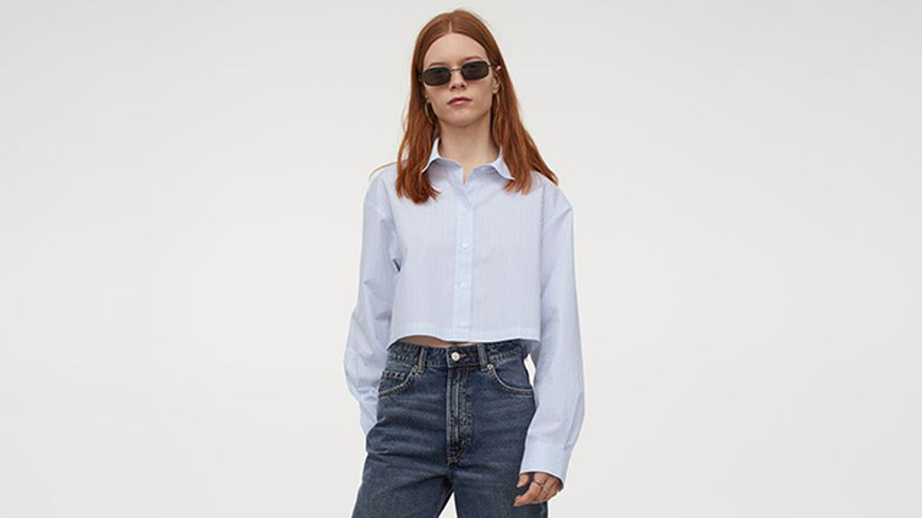 Camisa cropped de H & M
