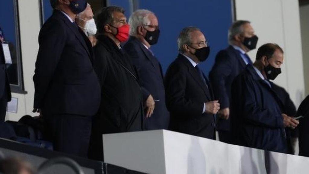 Laporta fue bien recibido en Madrid