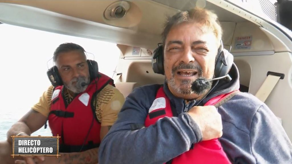 Antonio Canales salta del helicóptero