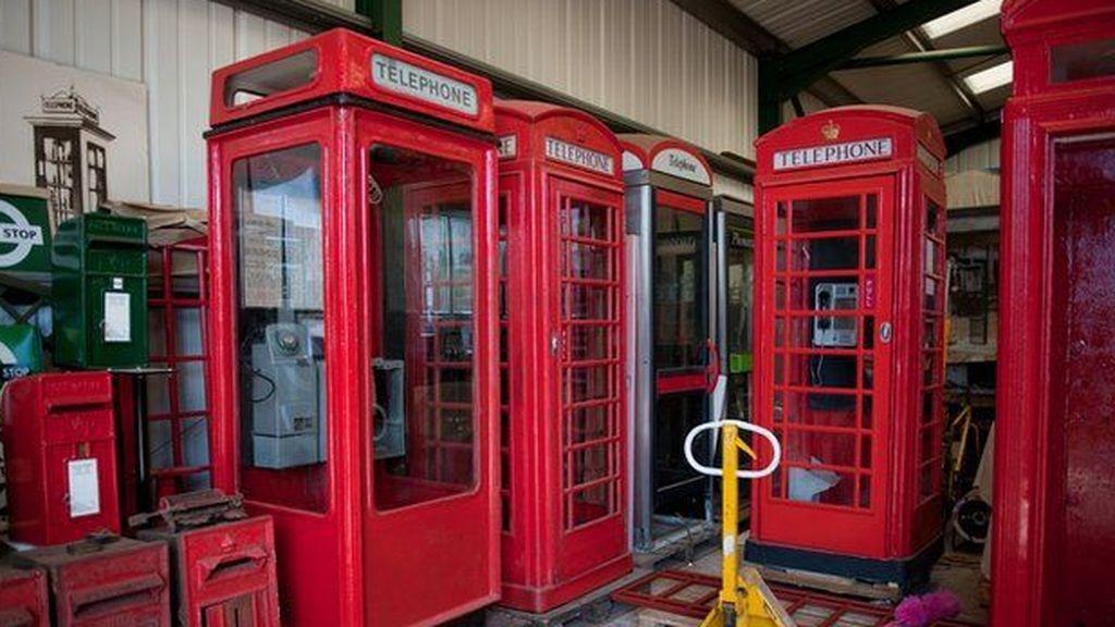 Cabinas telefónicas inglesas almacén