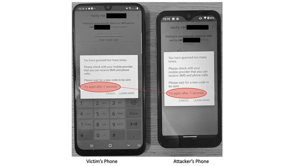 Proceso de bloqueado con la app 'rota'