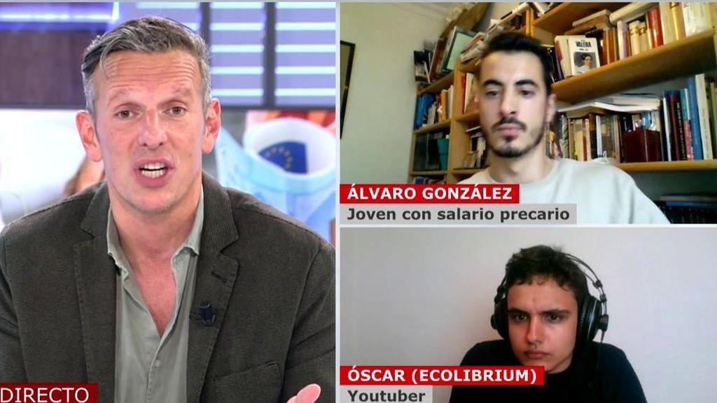 Joaquín Prat rebate a Óscar su polémico tuit sobre la capacidad de ahorro de los jóvenes y él estalla