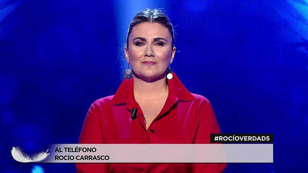 Rocío Carrasco interviene en directo para comunicar que el próximo miércoles estará en plató