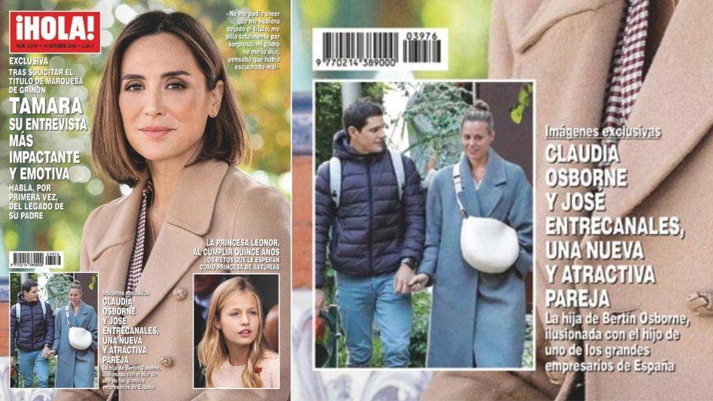 La portada que confirmó la relación de Claudia con José