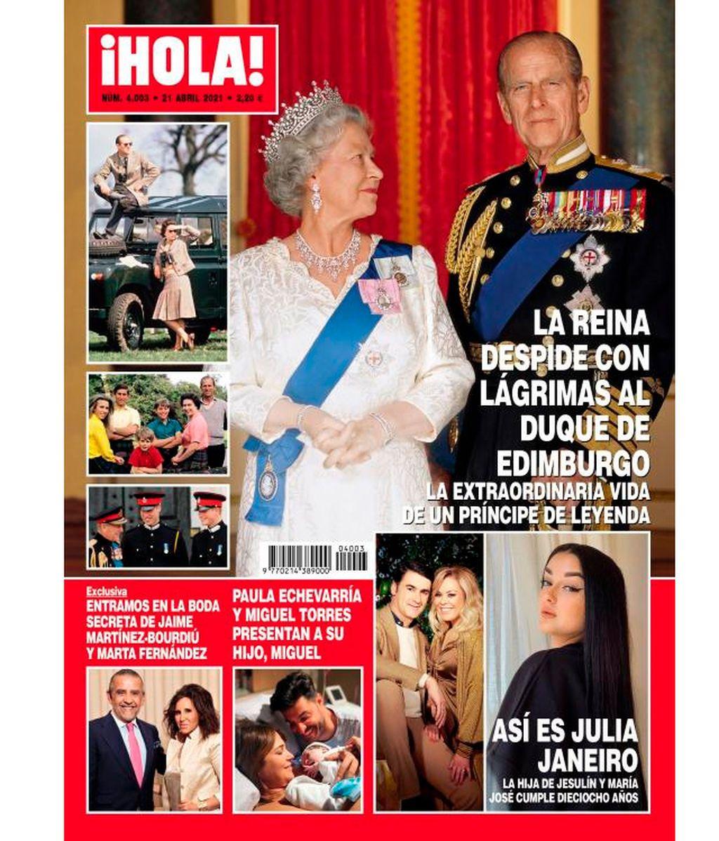 Julia Janeiro en la portada de la revista