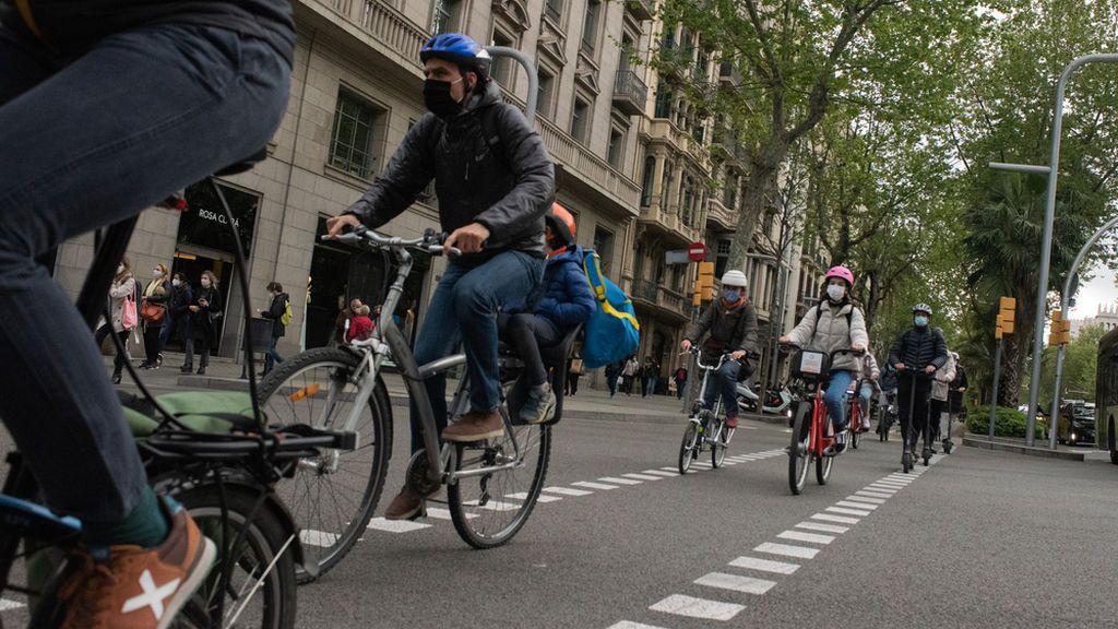 El 38% de los ciclistas desconocen las normas de circulación en Barcelona