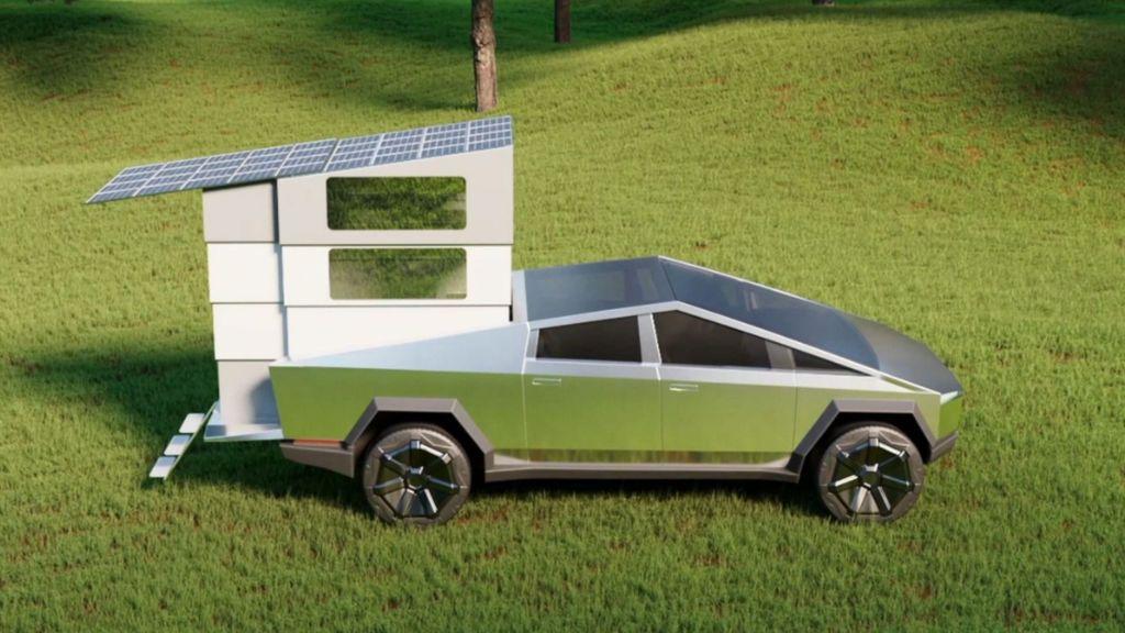 Una empresa americana añade un extra al Cybertruck de Tesla y lo convierte en coche para acampadas