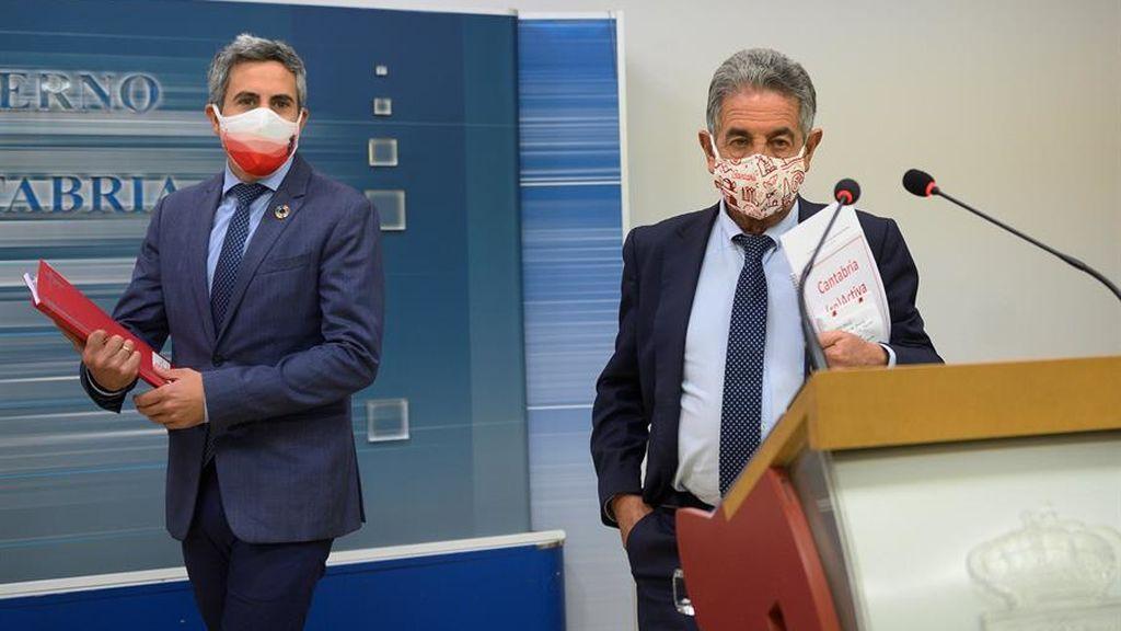 El vicepresidente de Cantabria, positivo en covid y Revilla, negativo