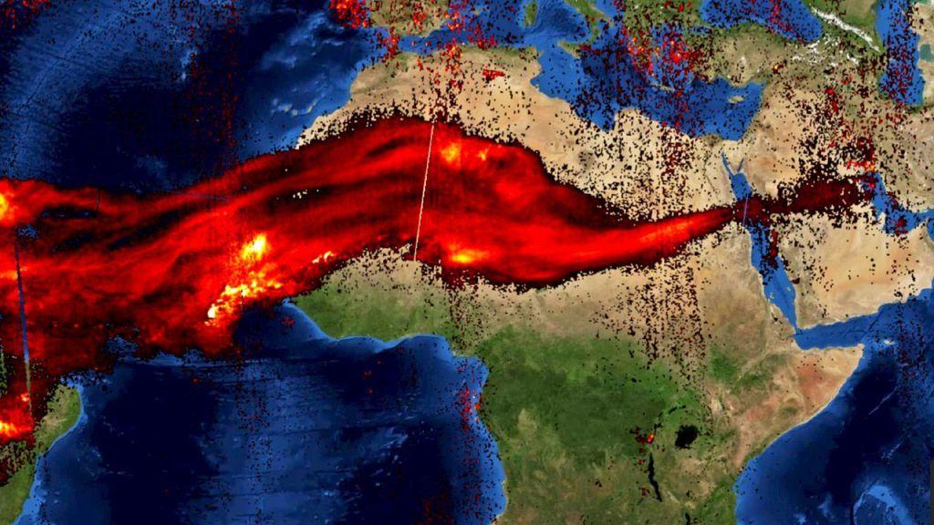 La nube de dióxido de azufre emitida por el volcán La Soufrière llega ya hasta Egipto