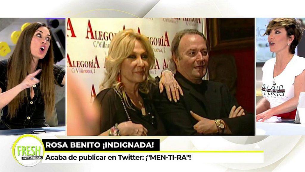 "Rosa Benito reacciona a las acusaciones de Rocío Carrasco: ""¡MEN-TI-RA!"""