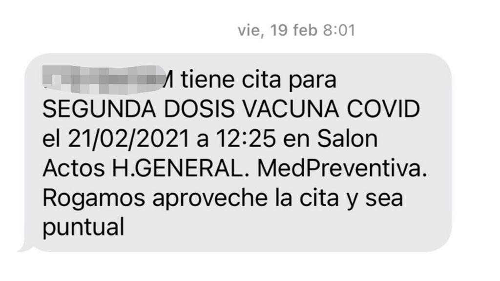Citación vacuna covid Andalucía