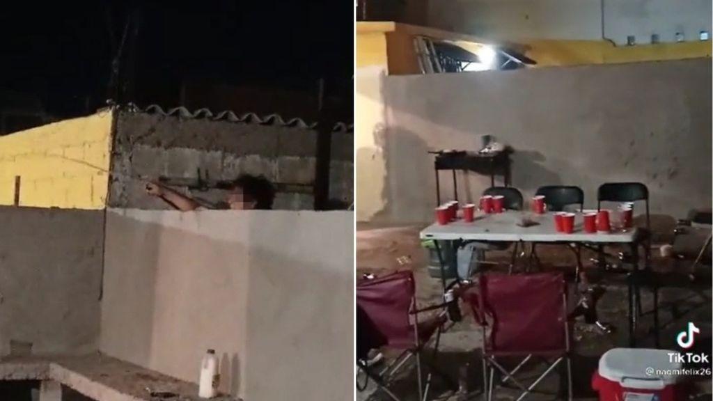 Una mujer arruina la barbacoa de sus vecinos con un manguerazo y se hace viral en TikTok
