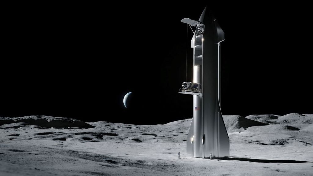 Elon Musk wins the NASA contract for the spacecraft that will once again take a human being to the Moon