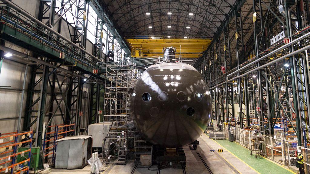 El S81 Isaac Peral en el astillero de Navantia