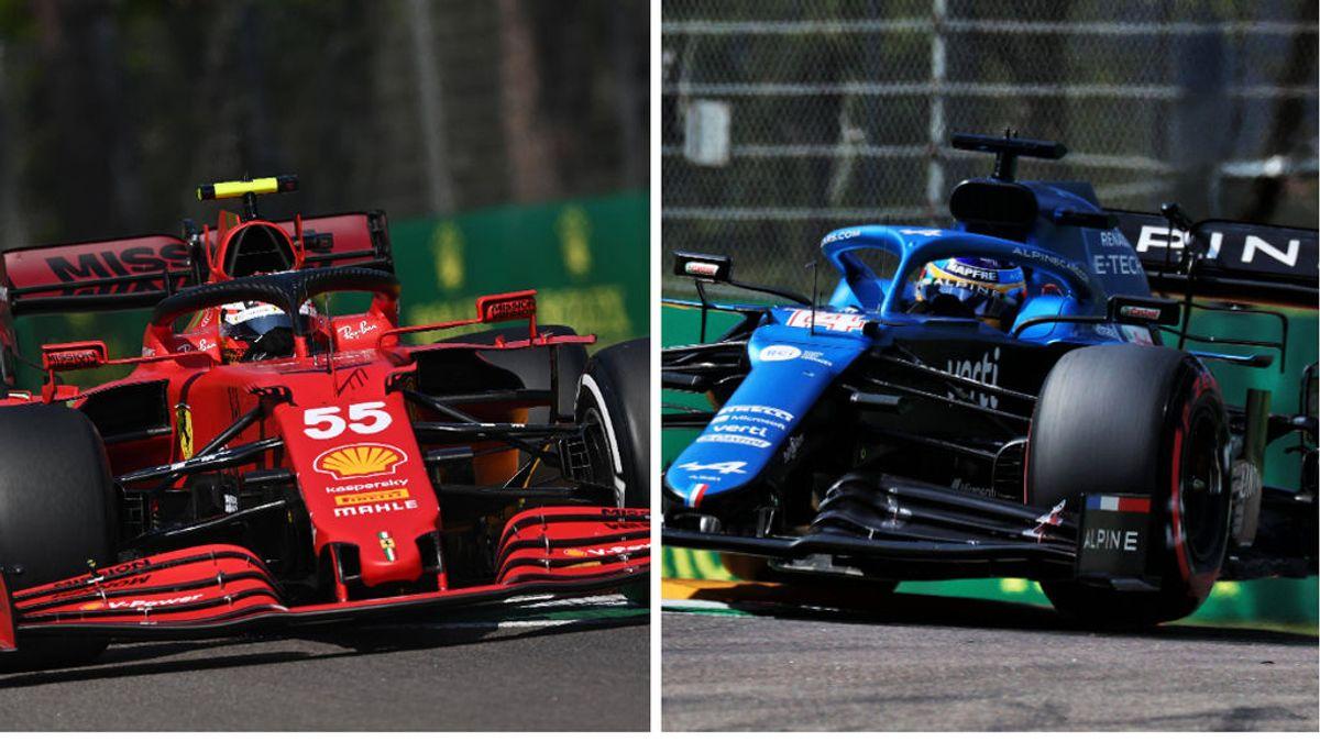 Batacazo de los pilotos españoles en Imola: Carlos Sainz saldrá undécimo y Fernando Alonso, decimoquinto