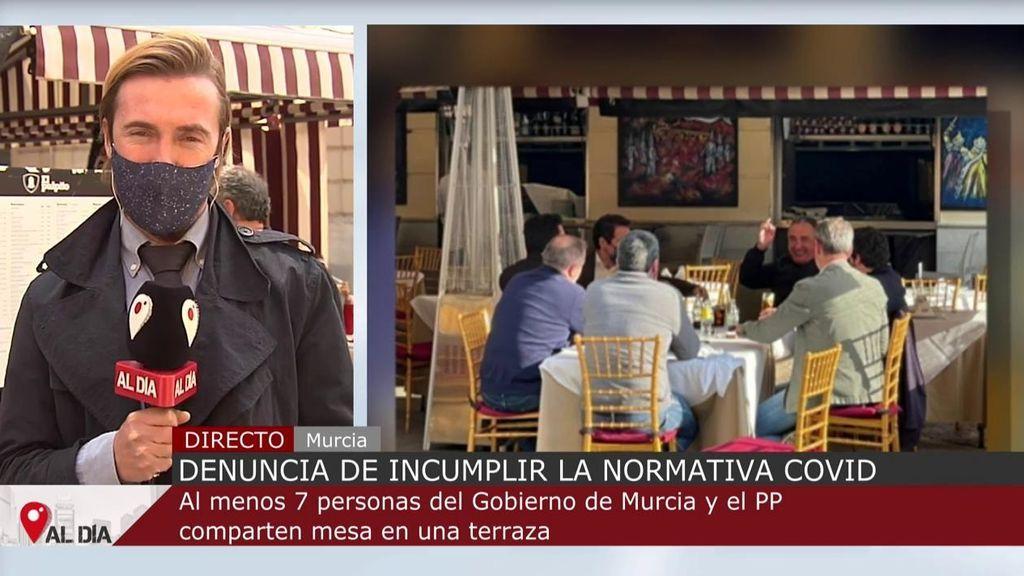 Polémica foto de Garcia Egea y López Miras, en una mesa y sin mascarillas: PSOE y Up piden su dimisión