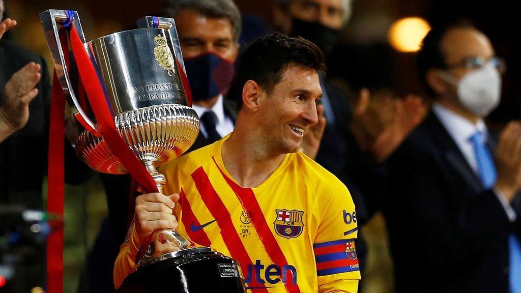 """Messi, tras proclamarse campeón de la Copa del Rey: """"Es muy especial ser el capitán de este club en el que llevo toda la vida"""""""