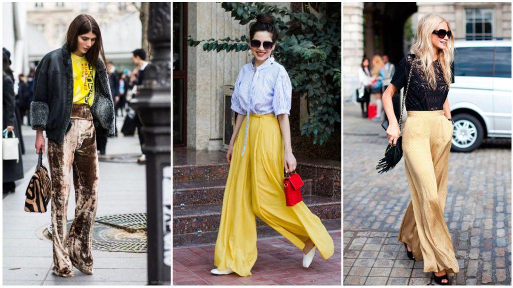 Los pantalones palazzo son un must que podrán combinarse con los tacones o zapatos más informales.