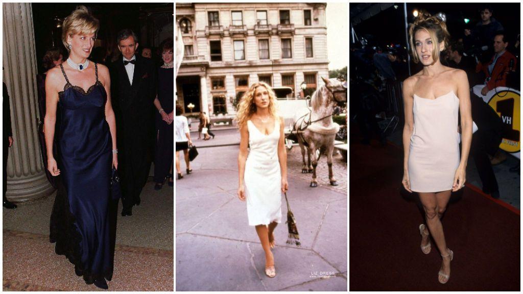 El slip dress fue uno de los preferidos de Lady Di y Sarah Jessica Parker.