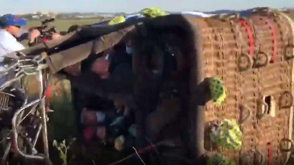 José Manuel Soto sufre un aparatoso accidente en globo aerostático