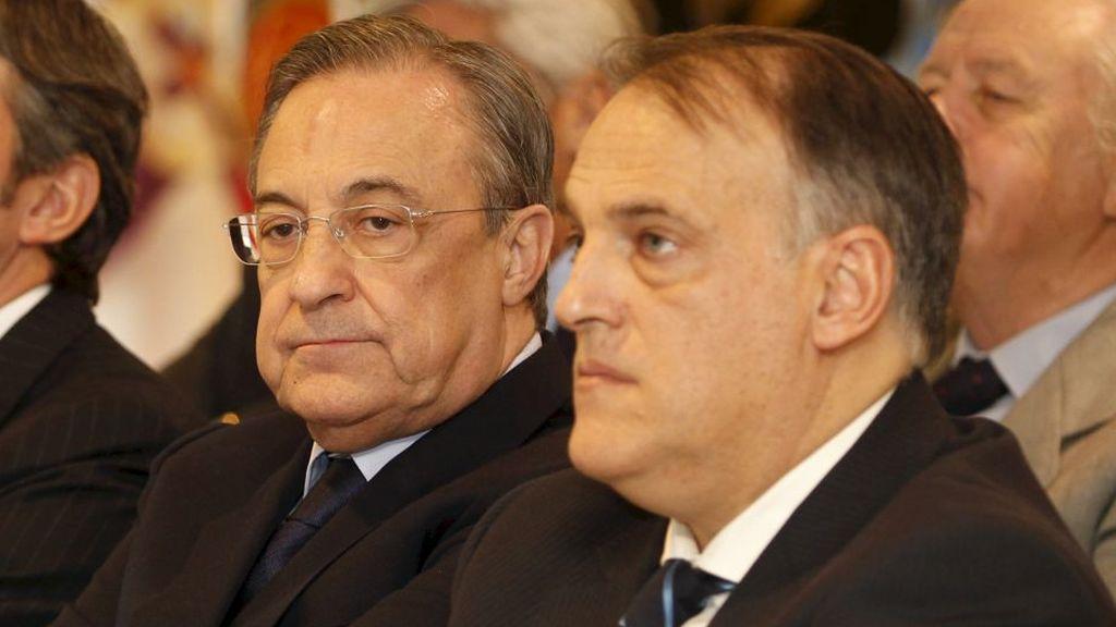 "Javier Tebas vuelve a mandar un aviso a Florentino Pérez: ""Utilizaré todas las herramientas para impedir la Superliga"""