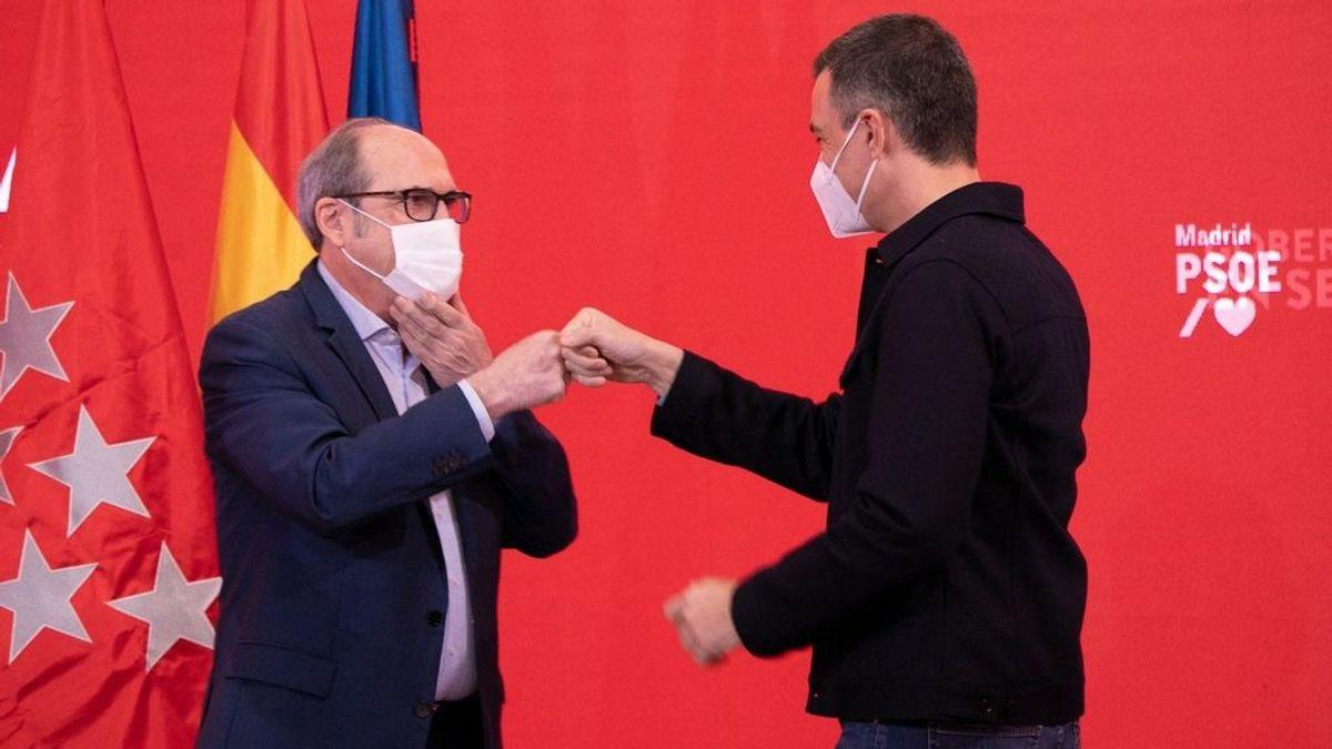 Sánchez y Gabilondo, en un acto de campaña de este fin de semana